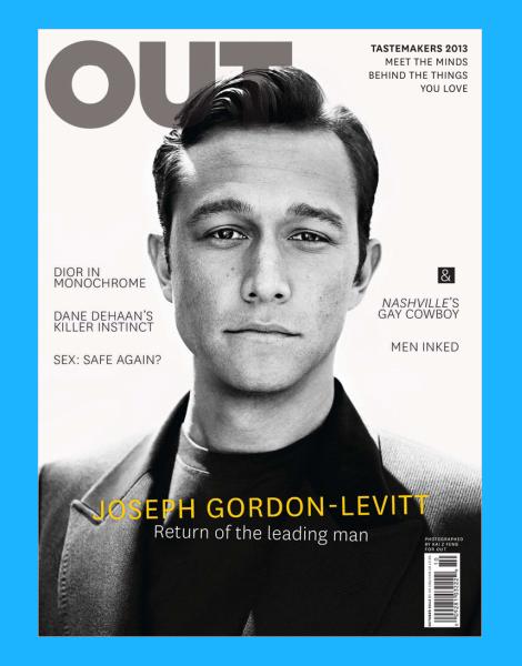 Joseph Gordon-Levitt on cover of OUT magazine