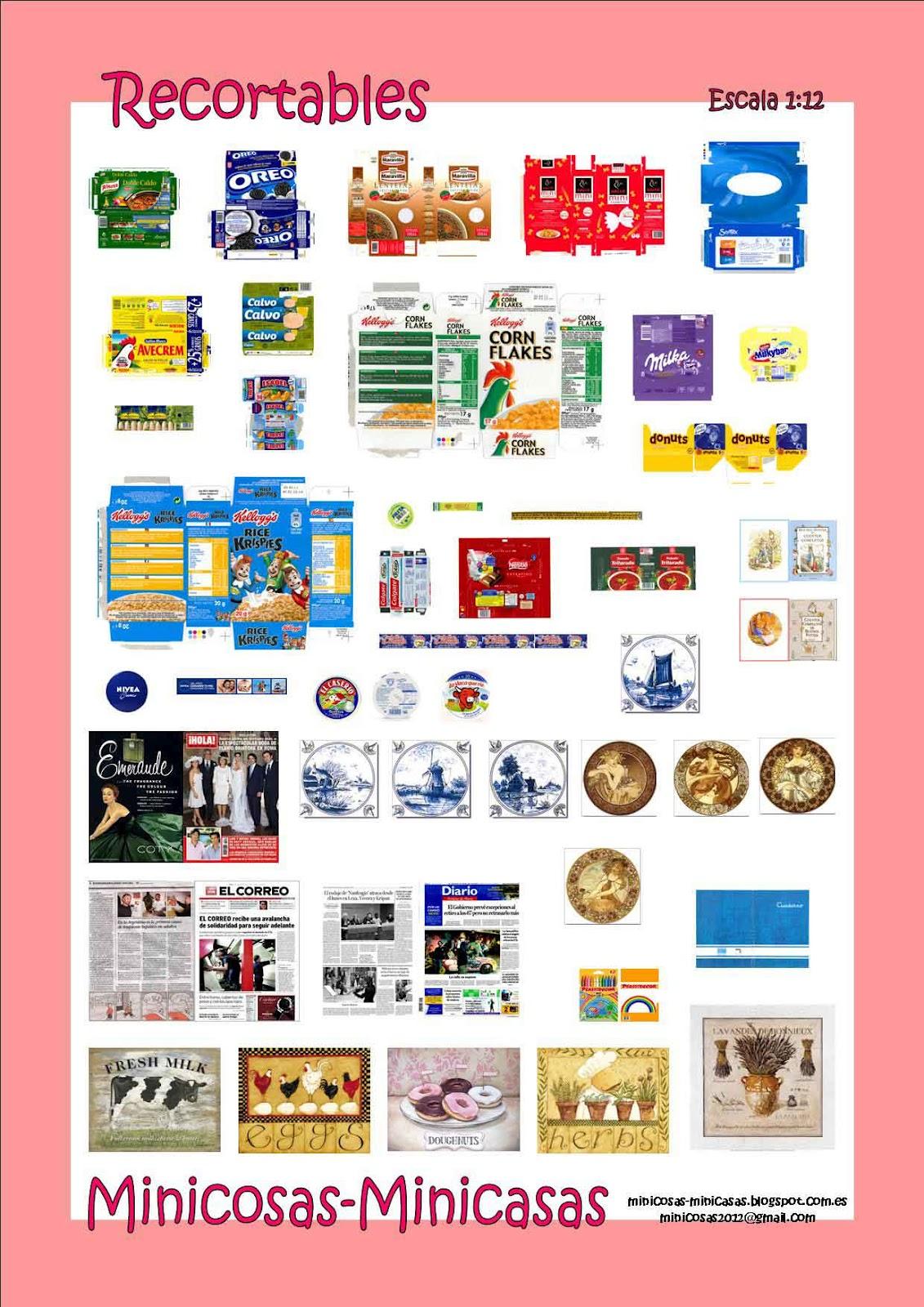 Minicosas minicasas imprimibles - Accesorios para supermercados ...