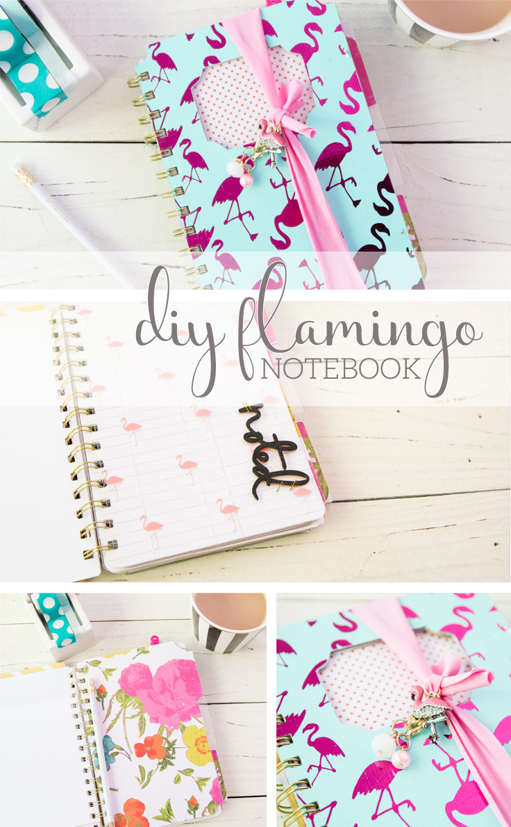 DIY Flamingo Notebook by @createoften
