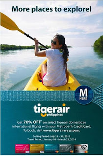 Metrobank Credit Card 70% OFF Tiger Airways Philippines,promo
