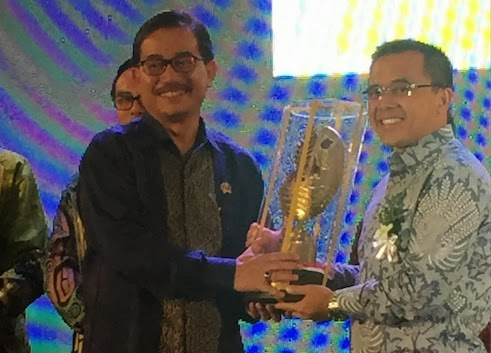 Banyuwangi meraih penghargaan Tata Ruang terbaik se Indonesia 2014.
