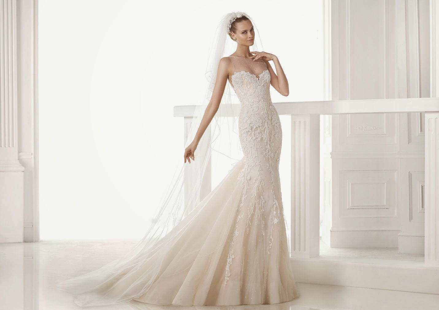 2015 Wedding Dresses: Lace Mermaid Gowns by Pronovias