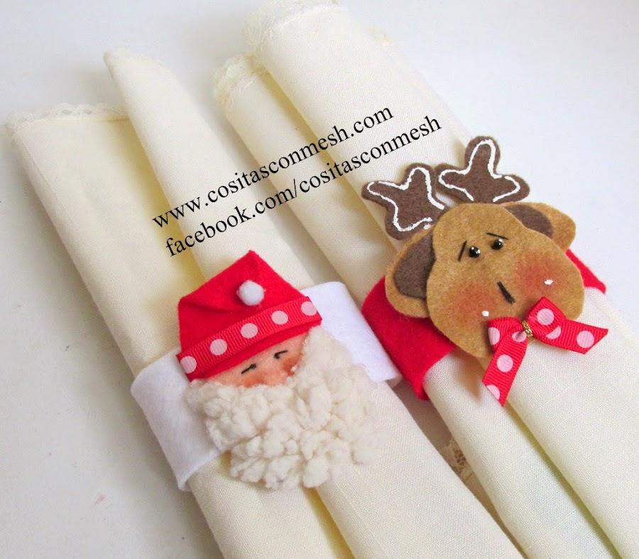 Figura de flor y muchas ideas m s para navidad con - Manualidades de navidad en tela ...
