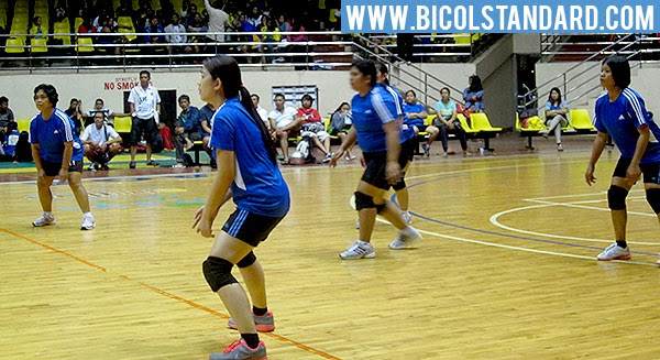 Naga Parochial School vs. Bicol Medical Center volleyball match during the 4th Naga City Inter-government Sports Fest