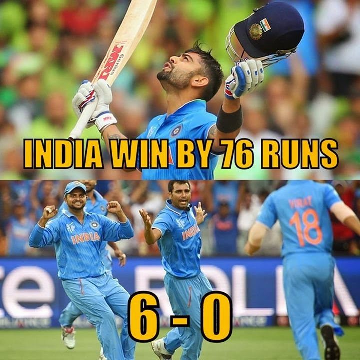 India beat Pakistan by 76 runs in the ICC Cricket World Cup 2015