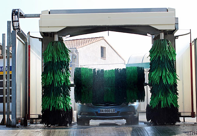 car in automatic car wash