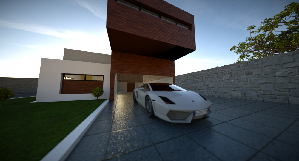 Visual Blender: Blender Architecture Exterior Home