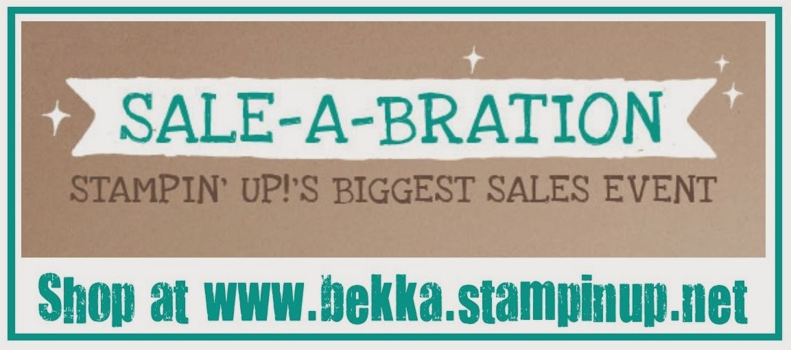 Check out Sale-a-Bration 2014 before its too late www.bekka.stampinup.net
