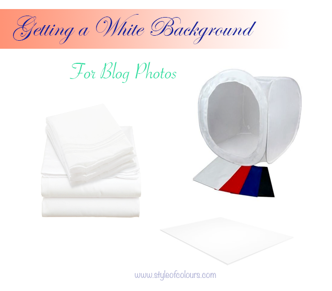 White Background for Blog Photos