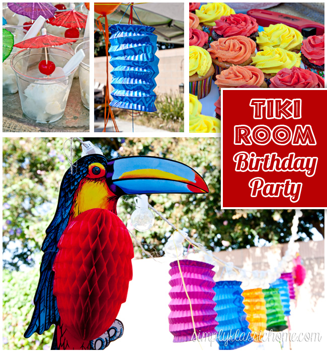 Backyard Hawaiian Luau : Tiki Room  Luau Birthday Party  Yellow Bliss Road