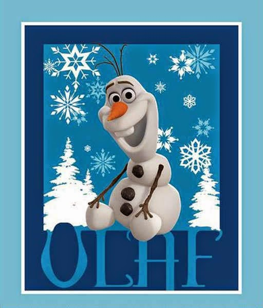 Olaf quilt panel