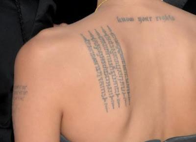 Significados das Tatuagens de Angelina Jolie