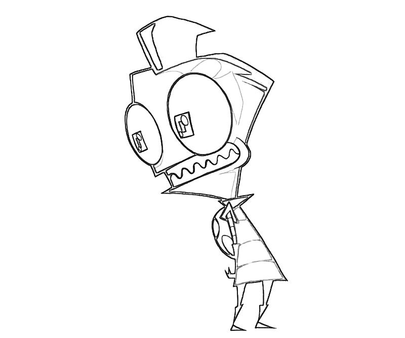 printable-invader-zim-look-coloring-pages