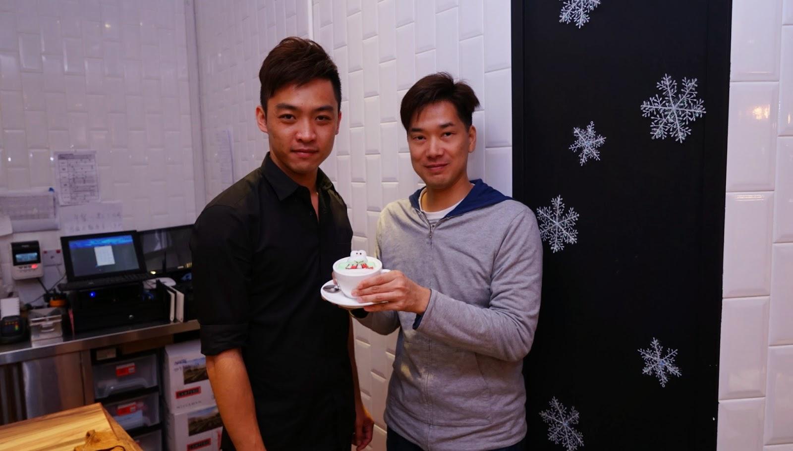 香港 新蒲崗 Mikiki Karena Cafe 3D拉花 咖啡 晚餐 Cappuccino Keroppi