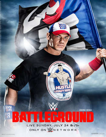 Poster Of WWE Battleground 24th July 2016 PPV 750MB    Free Download Watch Online Worldfree4u