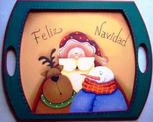 Arte country manualidades o c for Bandejas de navidad