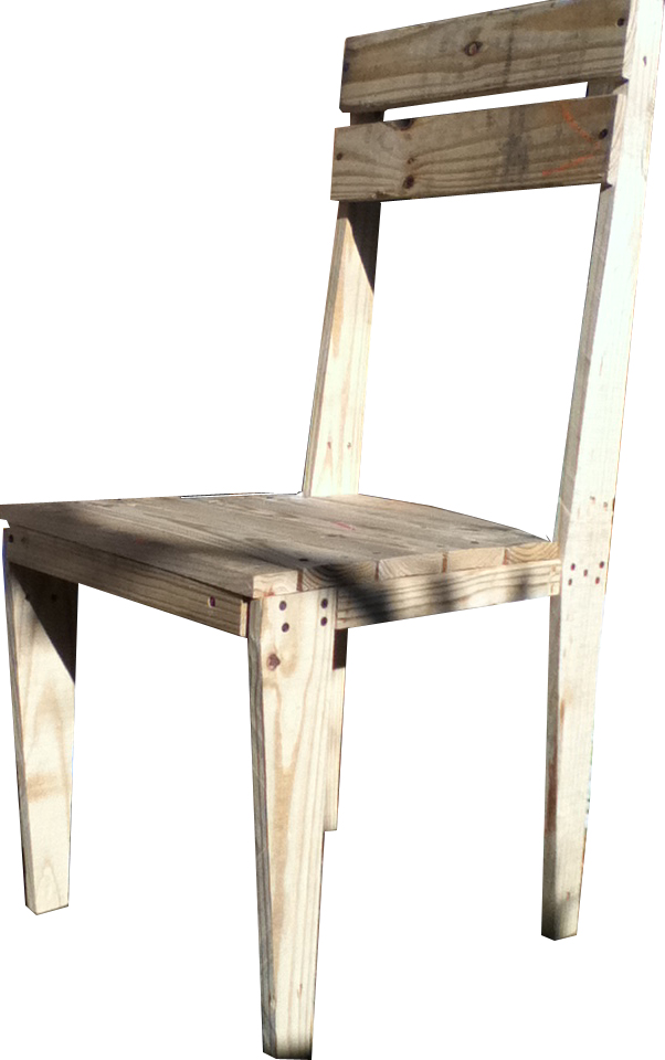 A Chair Made From Shipping Pallet 4