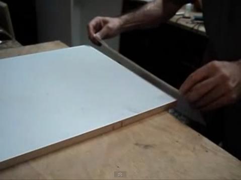 V deo melamina pegado de formica en filos de tablero placas de mdf web del bricolaje dise o diy - Pintar muebles de formica ...