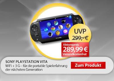 PS Vita 3G + WLAN bei MeinPaket für 286,20 Euro über Code MP10RABATT