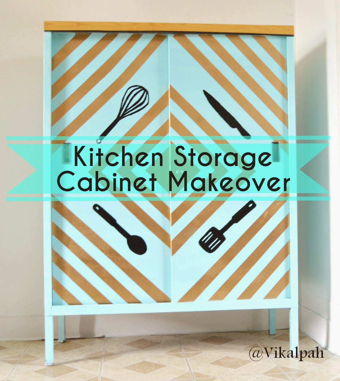Materials Used Any item you would like to do a makeover In my case it is a Storage cabinet. (Check whether the item you wish to makeover can be spray ...  sc 1 st  Vikalpah & Vikalpah: Kitchen Storage Cabinet Makeover !!