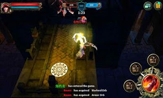 Screenshots of the Dark Avenger for Android tablet, phone.