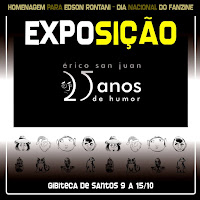 25 ANOS DE HUMOR -  Gibiteca Municipal Marcel Rodrigues Paes - Santos, SP (2016)