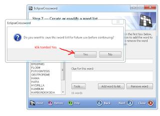 cara membuat TTS dengan EclipseCrossword 4