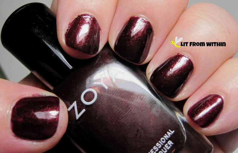 gorgeous burgundy shimmer - Zoya Kalista