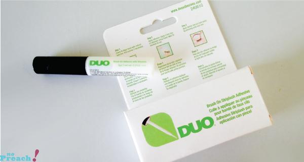 Review: Cola transparente para cílios DUO em bastão