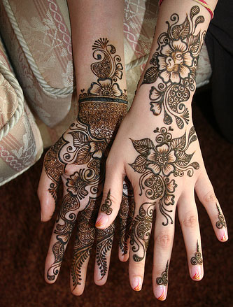 Flower Tattoo Pics Hand Mehndi Designs