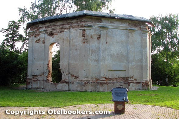 The ruins of the Chapel in the Loshica Estate - Belarus