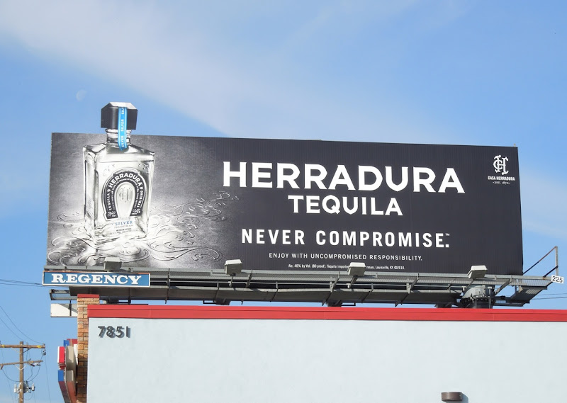 Herradura Tequila Never Compromise extension billboard