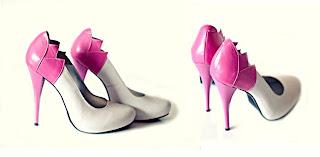 foto pantofi de mireasa alb cu roz