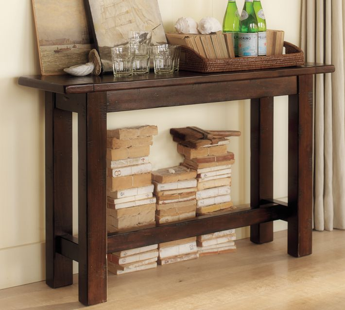 the hyde console table from pottery barn - Skinny Console Table
