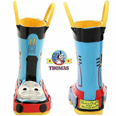 2012 Thomas accessories Wellington rubber boot upper smartly decorated number one choo choo train