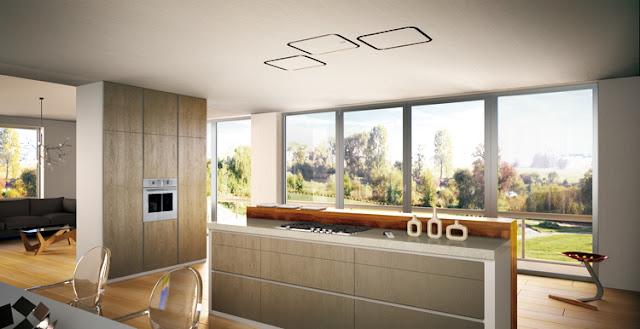 Campanas de techo luminosas y eficientes cocinas con estilo for Techos para cocinas