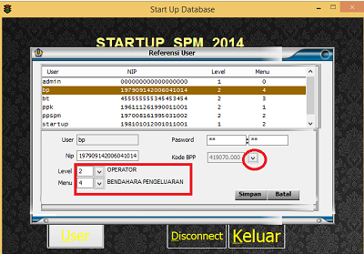 startup user silabi spm