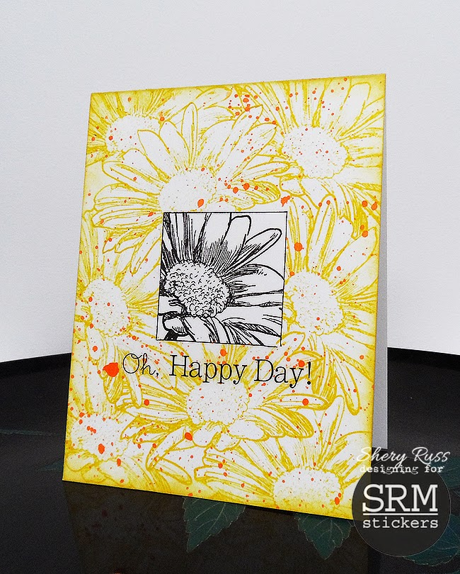 SRM Stickers Blog - Card Gift Set by Shery - #gift #cards #A2 #stickers #doilies #thank you #happy #stamping