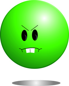 Angry Smiley Face Clip Art