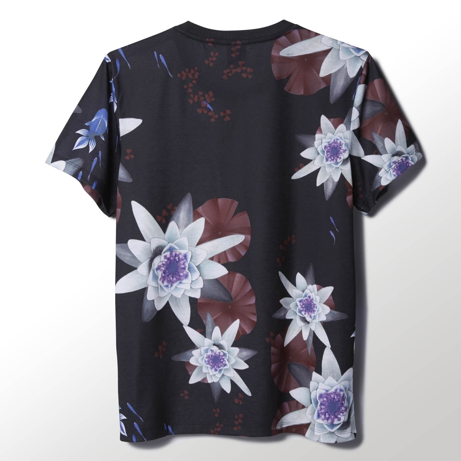 Sneakers and streetwear stuff adidas originals lotus p logo tee japanese designer shinpei naito put his signature touch on this womens t shirt showing off an allover lotus flower print the relaxed fit shirt is made izmirmasajfo