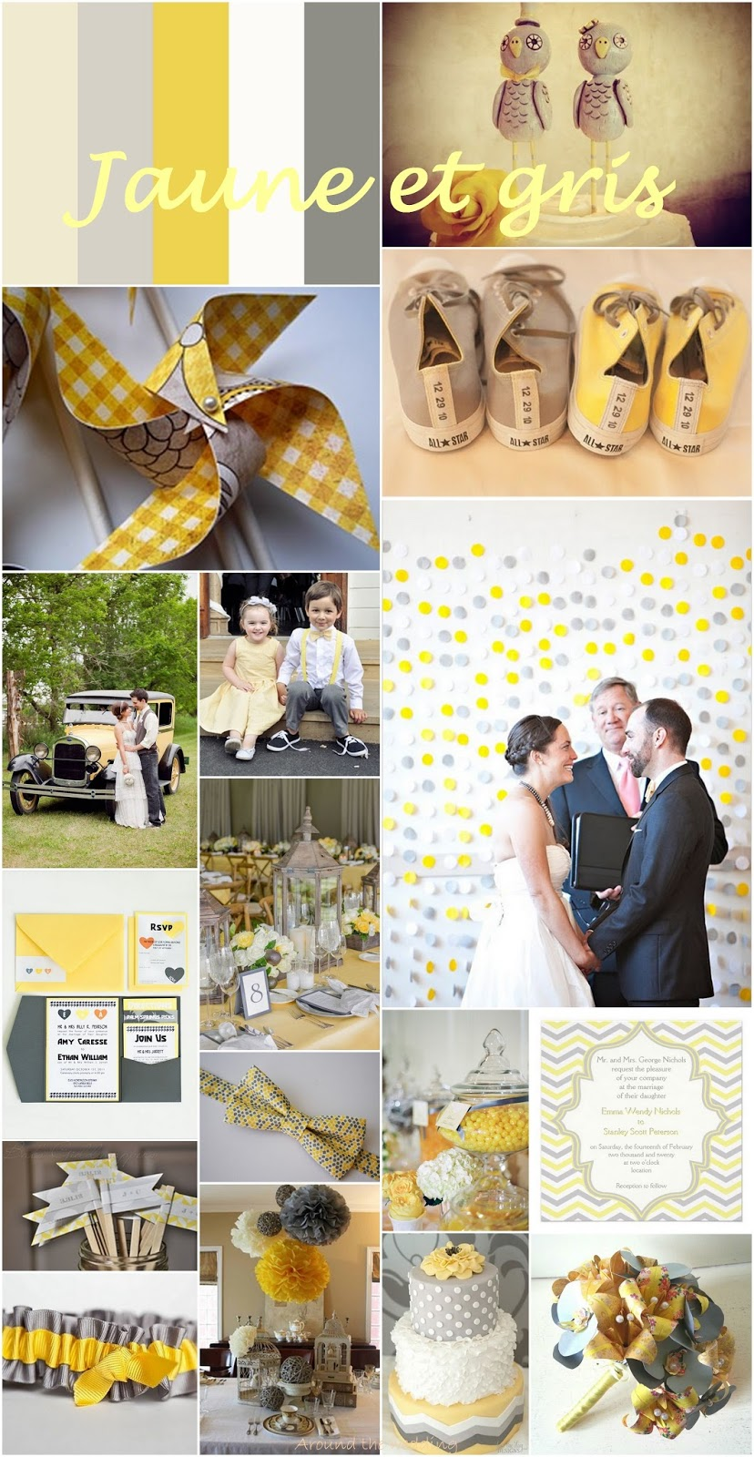 Around the wedding Couleur # jaune et gris