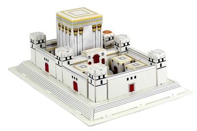 Rompecabezas Templo madera blanco 27 x 19 ctms.