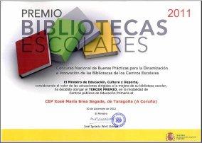 Premio Bibliotecas Escolares 2011