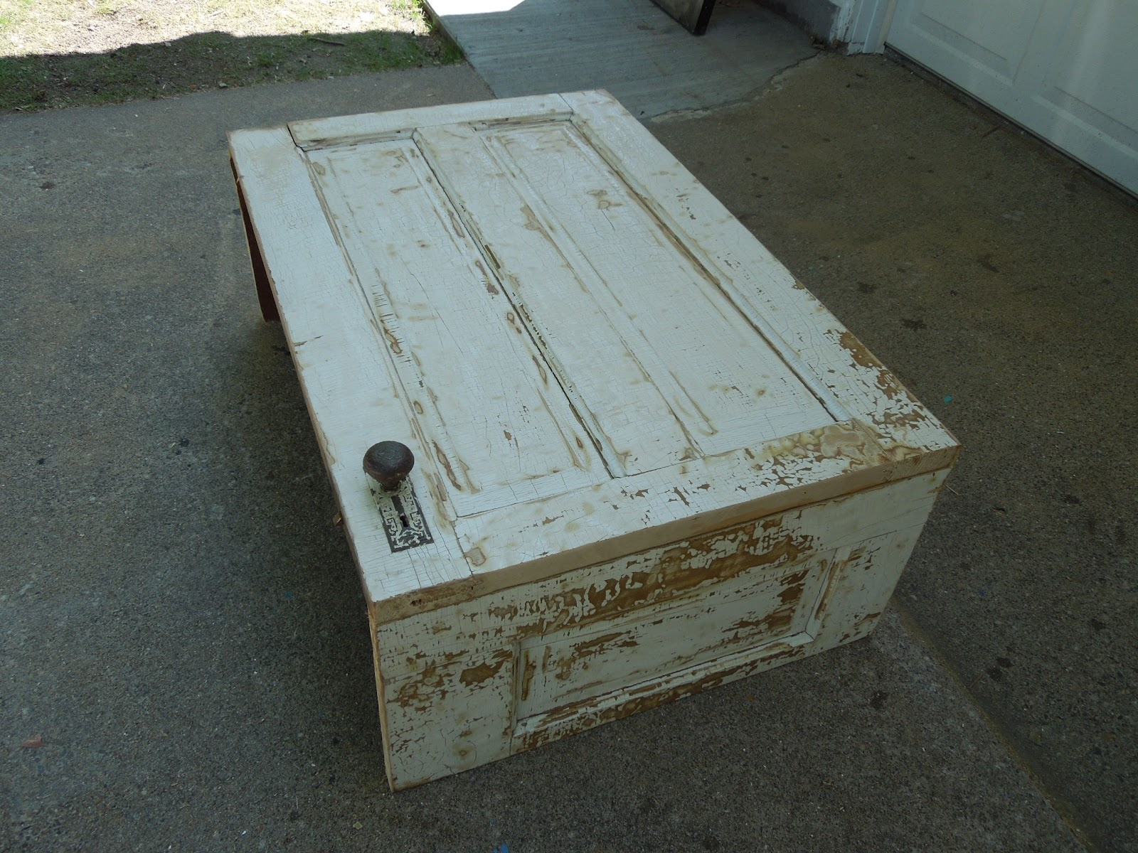 Old Door Coffee Table 69 00 Sold This Is A Coffee Table Made From An Old Door