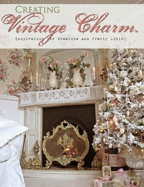 Our cottage on the cover of Creating Vintage Charm