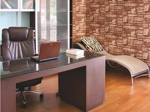 interior rumah dengan batu alam
