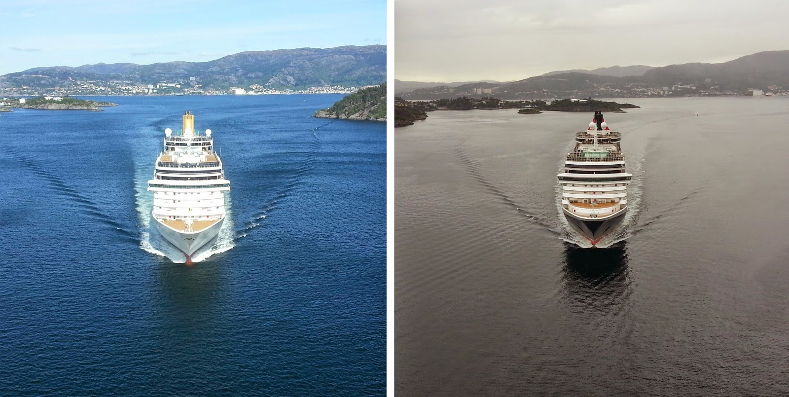 P&O's Arcadia and Cunard's Queen Victoria - comparison