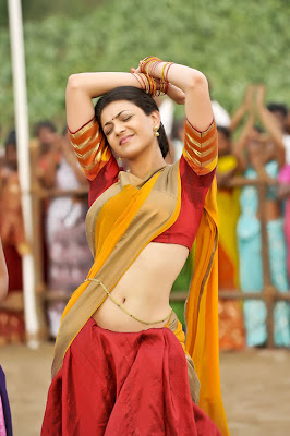 kajal agarwal in half saree actress pics