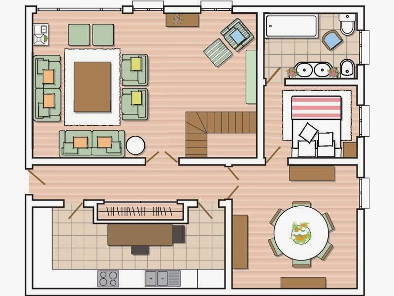 Maestra de primaria planos de viviendas dependencias de for Un plano de una casa