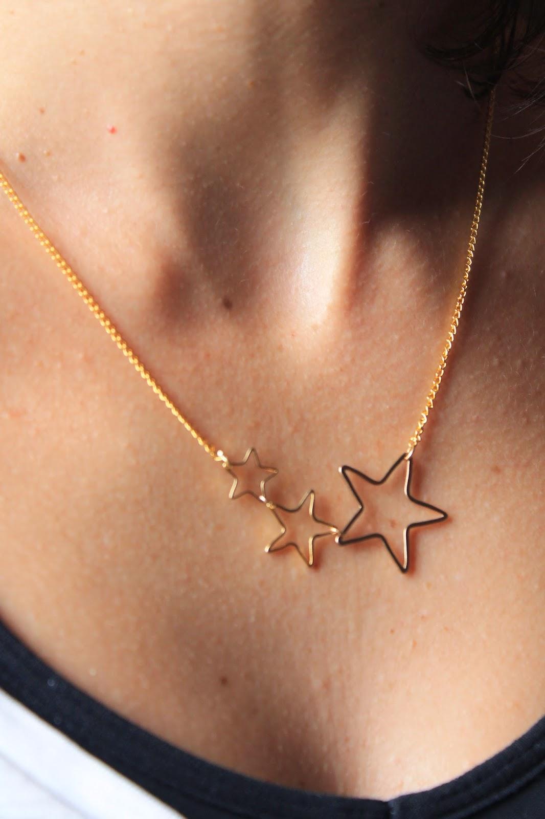 collar colgante estrellas